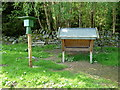 NN7423 : Game bird feeding trough at Dunira by Anthony O'Neil