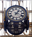 TQ3179 : Clock, Waterloo Station by Julian Osley