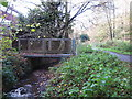 TQ4466 : Footbridge over the Kyd Brook - East Branch, west of Sparrow Drive, BR5 by Mike Quinn