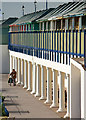 TF5281 : Beach huts and colonnade by David Lally