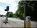 SJ7660 : The junction of A535 and High Street, Sandbach by Ian S