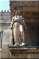 TQ2982 : Caryatid, St Pancras Church by Julian Osley