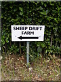 TM2544 : Sheep Drift Farm sign by Adrian Cable