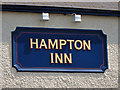 TR1568 : Hampton Inn sign by Oast House Archive