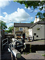 SJ9033 : Lock Gates and Star Inn at Stone, Staffordshire by Roger  Kidd