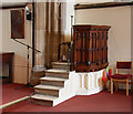 TQ5193 : St John the Evangelist, Havering atte Bower - Pulpit by John Salmon