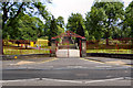 SJ9397 : Dukinfield Park Gates by David Dixon