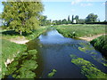 TL1296 : The River Nene looking towards Castor Windmill and Watermill by Marathon