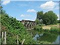 TQ8630 : Railway Bridge over Newmill Channel by David Anstiss