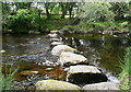 SX5381 : River Tavy stepping stones by Graham Horn