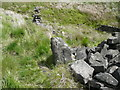 SD9029 : Western side of boundary stone by Humphrey Bolton