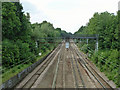 TQ5289 : Railway west of Gidea Park by Robin Webster