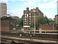 TQ2878 : School, seen from train outside Victoria station by Christopher Hilton