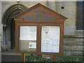 TF1442 : Church noticeboard Great Hale by John Firth