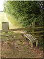 TM2456 : Stile of the footpath to Chimer's Lane & Hall Road by Adrian Cable