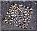 J5081 : Brickhouse access cover, Bangor by Albert Bridge