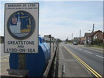 TR0822 : Greatstone and Lydd-on-Sea Village Signs by David Anstiss