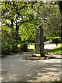 SJ9598 : Stamford Park, The Old Market Cross by David Dixon