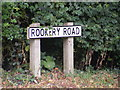 TM2358 : Rookery Road sign by Adrian Cable