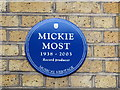 Photo of Mickie Most blue plaque