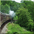 SK0147 : Churnet Valley Railway near Froghall, Staffordshire by Roger  Kidd