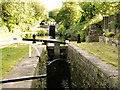SE0512 : Huddersfield Narrow Canal, Marsden Locks by David Dixon