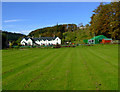 NS2172 : Bridgend Cottages and Inverkip Bowling Club by Thomas Nugent