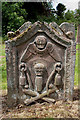 NT9355 : A symbolic gravestone in Foulden Churchyard by Walter Baxter