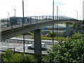 SK3870 : Giant footbridge over the A61 and A617 by Andrew Hill