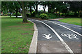 SK4733 : Path junction with markings by David Lally