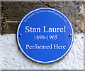 NS5964 : Stan Laurel blue plaque by Thomas Nugent