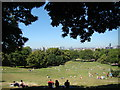 TQ3877 : Panorama from the hill in Greenwich Park by Robert Lamb