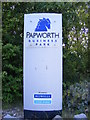 TL2862 : Papworth Business Park sign by Adrian Cable
