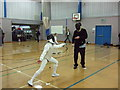 SJ9497 : Get the point? Manchester Junior Open Fencing Championships 2010  (1) by Richard Hoare