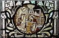 TQ5439 : All Saints, Langton Green - Stained glass window by John Salmon