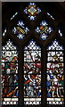 TQ2385 : St Gabriel, Walm Lane, Cricklewood - Stained glass window by John Salmon
