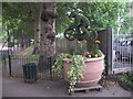 TQ3079 : Plant Sculpture in Archbishop's Park by PAUL FARMER