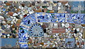 TQ3080 : Mosaic of River Thames at South Bank by PAUL FARMER