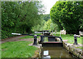 SJ9152 : Railway Lock at Stockton Brook, Staffordshire by Roger  Kidd