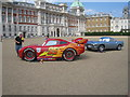 TQ2980 : Cars on Horse Guards Parade by Sebastian Ballard