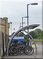 SE7871 : Cycle parking, Malton Station by Pauline Eccles