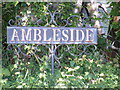 TM4367 : Ambleside sign by Adrian Cable