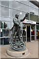 SK3871 : Statue of George Stevenson, Chesterfield Station, Derbyshire by Christine Matthews