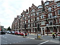 TQ2478 : Victorian mansion block, Hammersmith Road, Olympia by Ruth Sharville