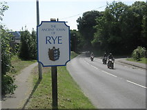 TQ9221 : Rye Town sign by David Anstiss