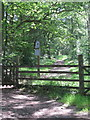 SK2477 : Haywood entrance on path to Grouse Inn by Peter Turner