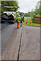 SU5325 : Resurfacing works on Longwood Road by Peter Facey