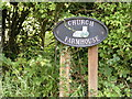 TG0524 : Church Farmhouse sign by Adrian Cable