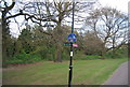 TR0042 : Signpost for footpath and cycleway by N Chadwick