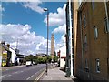 TQ1777 : View of the Kew Bridge Steam Museum tower from Brentford High Street by Robert Lamb